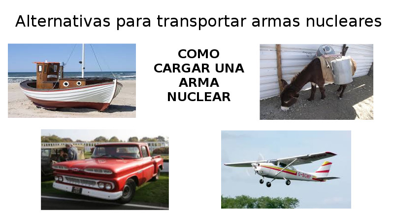 Alternativas para transportar armas nucleares