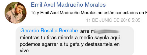 Uno de los perfiles falsos de el funcionario Enrique Barajas alias el Pollo, funcionario publico a cargo de los troles de Daniel Carrion