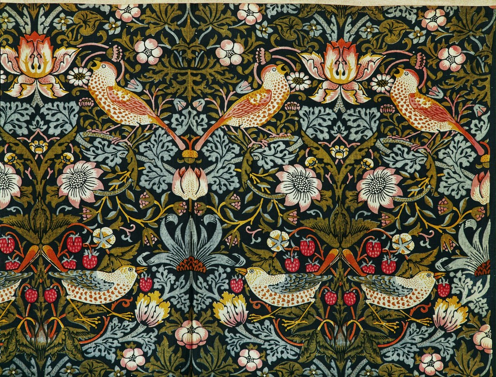 William Morris (1834-1896)  The Strawberry Thief (Flower and Bird Pattern), 1884  The Victoria and Albert Museum, London