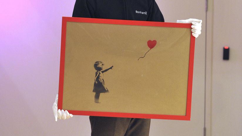 Original de Banksy antes de autodestruirse
