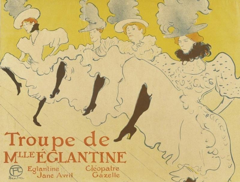 Henri de Toulouse-Lautrec  La troupe de Mlle Eglantine, 1896  Musée des Arts décoratifs, Paris