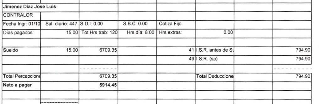 Nomina de el corrupto Contralor de el Ayuntamiento de Sayula Jose Luis Jimenez Diaz