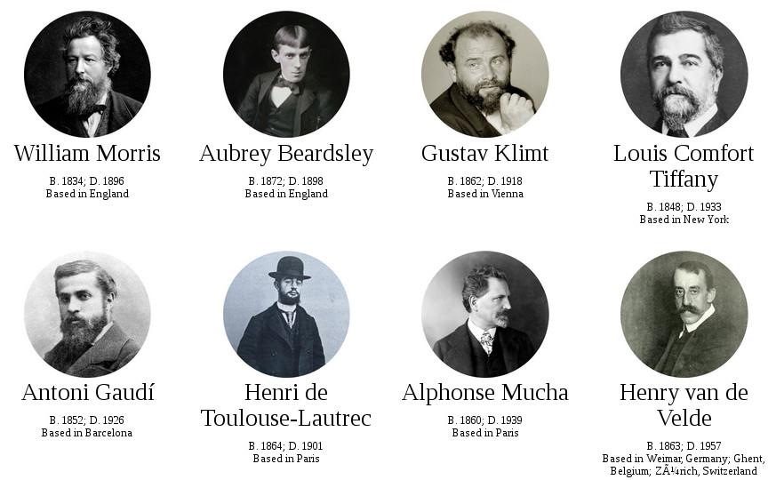 maestros del art nouveau