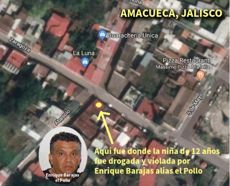 Lugar donde Enrique Barajas violo a una niña en Sayula