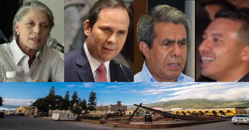 Miryam Vachez Plagnol,  Jose Luis Orozco (PRI),  Jorge Campos (PRD/MC) y Daniel Carrion (titere de los Gonzalez) responsables de el fraude y la demolicion del Jardin de Niños Celso Vizcaino de Sayula, Jalisco.