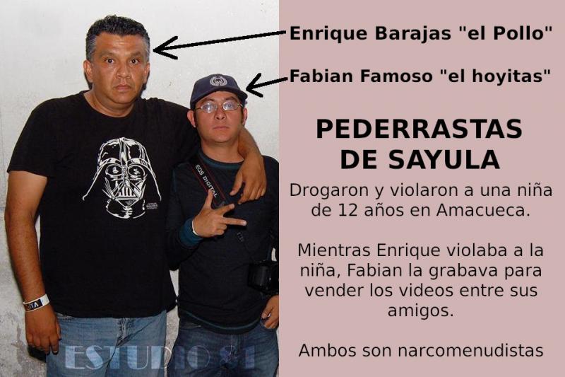 """Enrique Barajas """"el poyo"""" y Fabian Famoso """"el hoyitas"""" pederrastas de Sayula, Jalisco"""